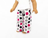 Polka Dot Doll Pajama Pants, 18 Inch Doll Clothes, Toys