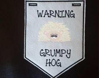 Hedgehog-Grumpy Banner Boy