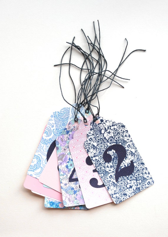 Handmade Table Number Tags