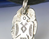 Southwest Thunderbird Spirit Nest Pendant / Necklace - Sterling Silver Thunderbird w/Fine Silver Nest Pendant Gift - Tribal Thunderbird Gift