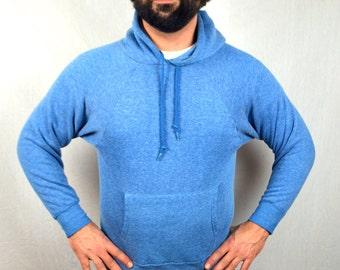 Vintage Basic Blue 1980s 80s Super Soft Sweatshirt