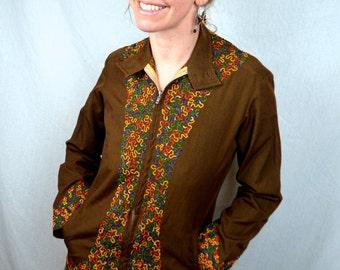 Vintage Ethnic Embroidered Rainbow Mini Dress Tunic Top