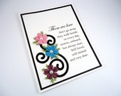 Sympathy Card, Sorry For Your Loss, Condolence, Bereavement, loss of loved one, pet sympathy, comfort card, floral sympathy card