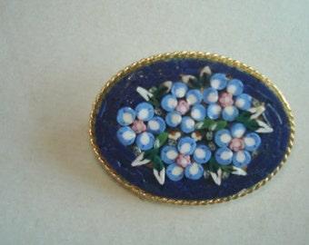 Mosiac Floral Brooch