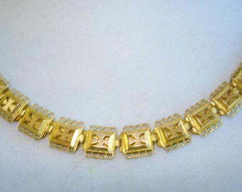"Victorian Book Chain GF Vintage Jewelry  Necklace 18"" x .25"""