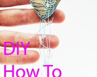 DIY Kit, How-To Heart Necklace, Textile Weaving, Fiber Arts: Woven Jewelry, DIY, Valentine, Victorian, Looping Knotless Netting