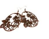 Earrings - Bronze Deer So Very Dear - Dangle