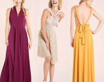 Custom bridesmaid dress, infinity dresses, bridesmaid dresses, made to measure bridesmaid dress, infinity maxi dress, long bridesmaid dress