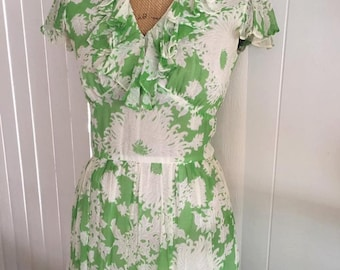 Vintage Garden Party Chiffon Dress by Fred Rothschild of California 70's does 30's