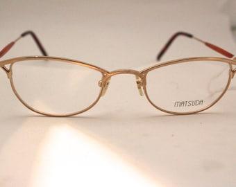 MATSUDA NOS  Designer SUNGLASSES Rare model 10119 Japan/ gold