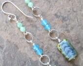 Vibration ~ Quartz & Czech Glass earrings - Bohemian style jewelry