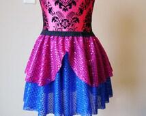 Running Skirt, Princess Anna Running Skirt, Sparkle Running Skirt, 5K Skirt, Race Skirt, Princess Skirt, Blue and Pink Sparkle Skirt