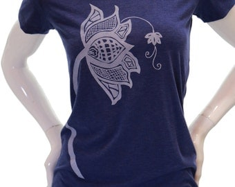 Lotus flower | Women's Soft, Fitted T Shirt | Scoop & V neck | Yoga apparel | art by MATLEY | Slim cut tees | Gift for her | Zen.
