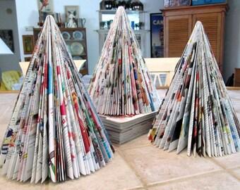 Christmas Tree Hand Folded Magazine Retro Christmas Kitsch