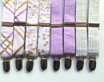 Little and Big Guy SUSPENDERS - Lavender and Gold Collection - (Newborn-Adult) - Baby Boy Toddler Teen Man - Easter Spring