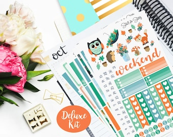 Autumn Days Deluxe Weekly Planner Vertical Student Sticker Kit Glossy - Stick to Your Story