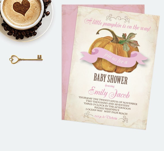 diy baby shower invitation editable text ms word template autumn