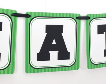 Name Banner - Made to Match Soccer Party Birthday Banner