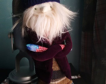 Blond Haired Fabric Man Hipster Doll