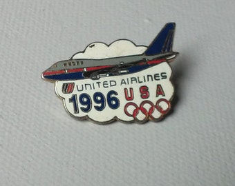Vintage collectable United Airlines 1996 Olympics Lapel Pin