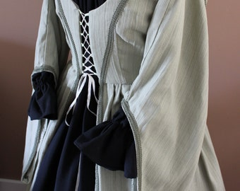 """Bust 48"""" Olive Irish Maiden Style Gown Dress Tudor Renaissance Medieval Gown"""