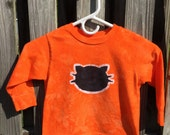 Halloween Cat Shirt (4T), Kids Halloween Shirt, Black Cat Shirt, Kids Black Cat Shirt, Kids Cat Shirt, Orange Cat Shirt