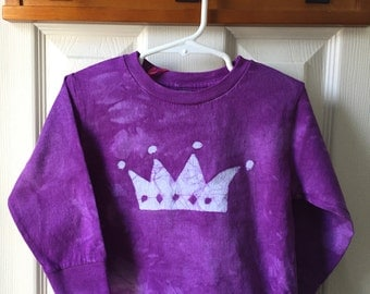 Princess Crown Shirt, Girls Princess Crown Shirt, Kids Crown Shirt, Girls Crown Shirt, Purple Crown Shirt (3T)