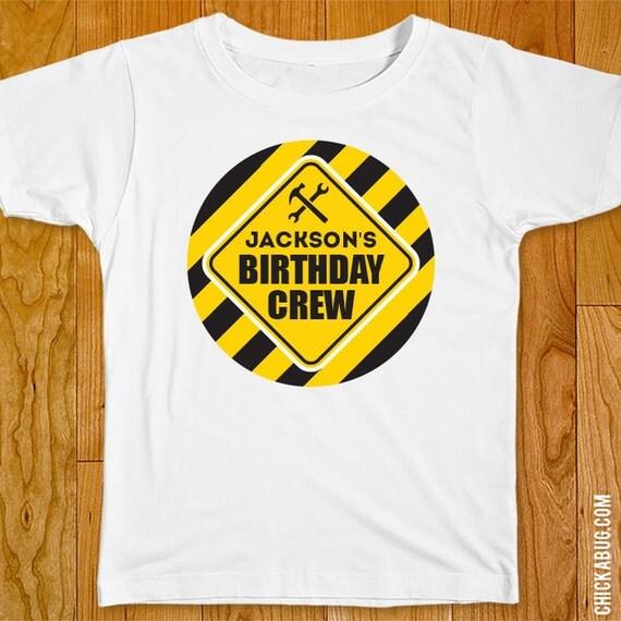 Construction Party Iron On Shirt Design Birthday
