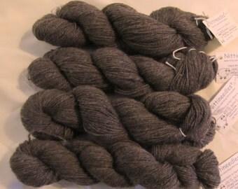 Natural Brown Handspun Wool 100g