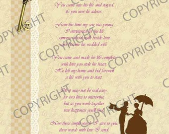 Daughter-In-Law Poem Print
