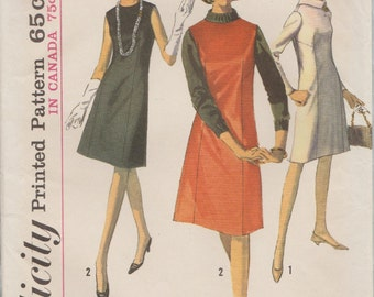 Simplicity 6116 / Vintage Sewing Pattern / Dress Or Jumper / Size 18 Bust 38