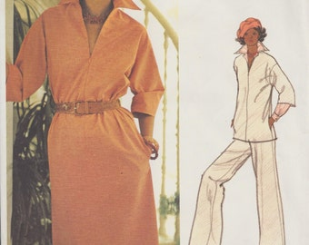 Vogue 1200 / Vintage Designer Sewing Pattern By Leo Narducci / Dress Pants Tunic / Size 12 Bust 34