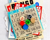 Vintage Bingo Card Pack / 12 Pieces / Junk Journal / Old Bingo Cards / Planner Supply