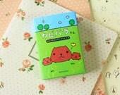 Kapibarasan GREEN 12pc cartoon sticker notes set