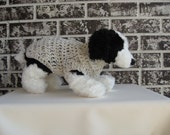 Xs dog sweater, small dog sweater, aran fleck color dog sweater,pet sweater