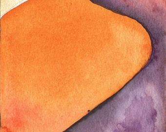 Dune study #1: Original Watercolor Landscape Painting