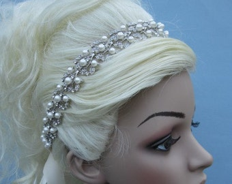 Wedding hair accessories,Wedding headband,Wedding headpiece,Bridal headband ribbon,Wedding headband pearl,Wedding hair jewelry,Bridal shower