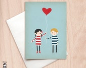 Love is in the Air - Blank Greeting Card