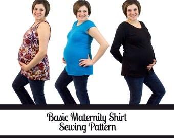 Maternity Shirt Pattern | Basic Maternity Top