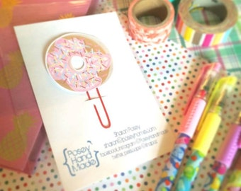 Donut with Sprinkles Planner Clip Book Mark
