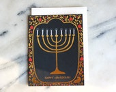 hanukkah gold foil card