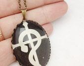 Full Metal Alchemist - Glass Jewelry - Handmade Recycled - Manga / Anime Pendant Necklace