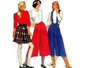 Vintage Womens Split Skirt Pleated Gauchos Sewing pattern Simplicity 9787 Sizes 6 - 14
