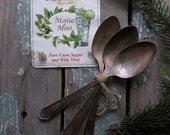 3 Silverplated Wm Rogers Silver Pattern Flatware. Dessert Soup Spoons. Shabby Cottage. Wedding Servers. Gift Package