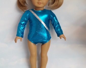 18 inch doll clothes - #117 Turquoise Leotard handmade to fit the American Girl Doll - FREE SHIPPING