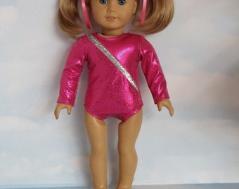 18 inch doll clothes - #114  Pink Gymnastic Leotard made to fit American Girl Doll - FREE SHIPPING
