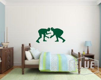 Wrestlers Vinyl Wall Decal - Kid's Room Wrestling Vinyl Wall Decal - Child's Room Vinyl Wall Decal - Wrestlers Wall Decal - Wrestling