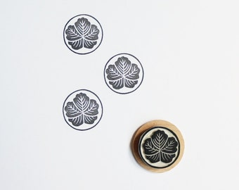 Japanese Flower - Hand Carved Rubber Stamp