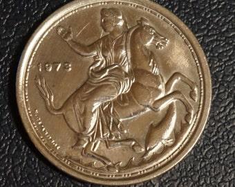 Large Greek Coin 20 Drachma 1973
