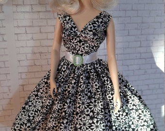 Handmade OOAK Dress and Hat for Silkstone Barbie Doll